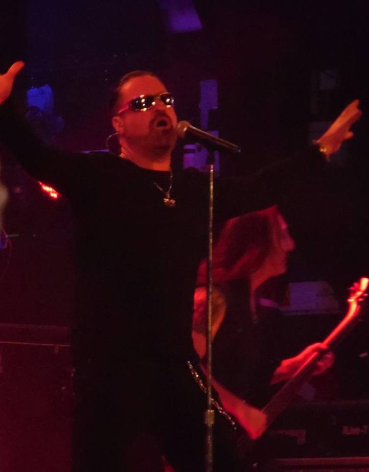Symphony X, London Islington, 19 February 2016. Not very successfully photographed by Angie K (impossible moving targets!!)